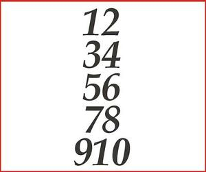 Image Is Loading Sticky Back Numbers 1 10 Serif Italic 60