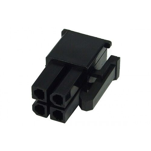 Shakmods 4 pin Female ATX EPS Power Connector Socket Black +4 Free Pins UK Stock
