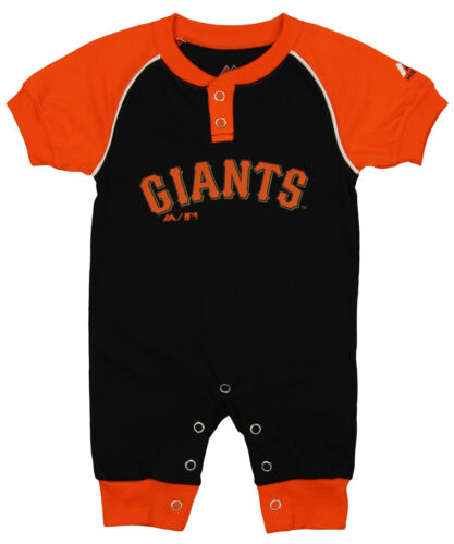 """Majestic MLB Infant San Francisco Giants /""""Game Time/"""" Coverall"""