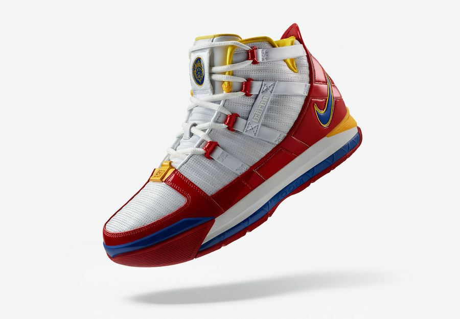 """9ccce40dce NIKE III QS """"SUPERBRON"""" AO2434-100 SUPERMAN THEMED Men's Sneakers LEBRON  ZOOM negjkx176-Athletic Shoes"""