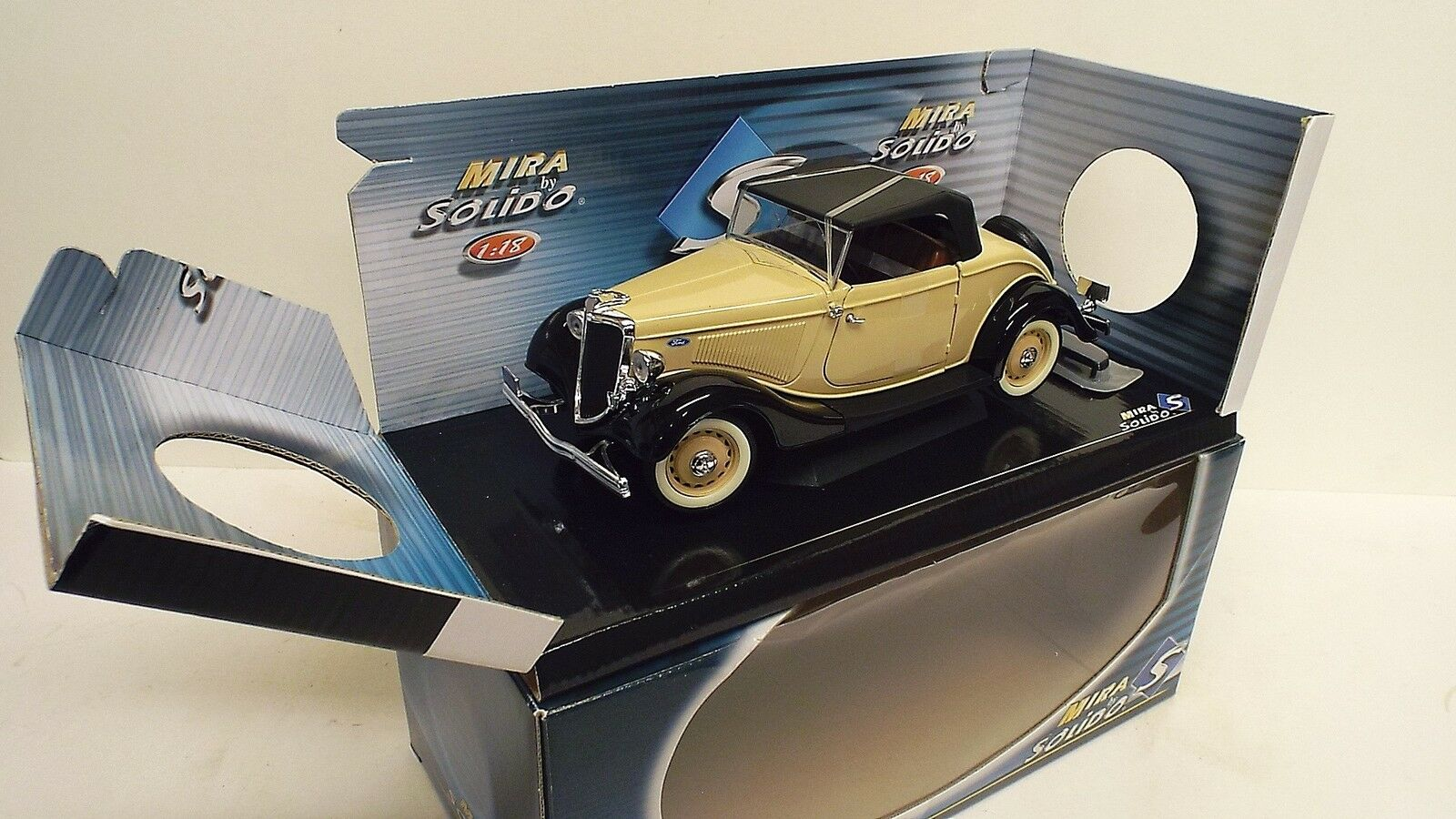 MIRA BY SOLIDO 1934 FORD ROADSTER 1 18  MINT BOXED (1 18-63)
