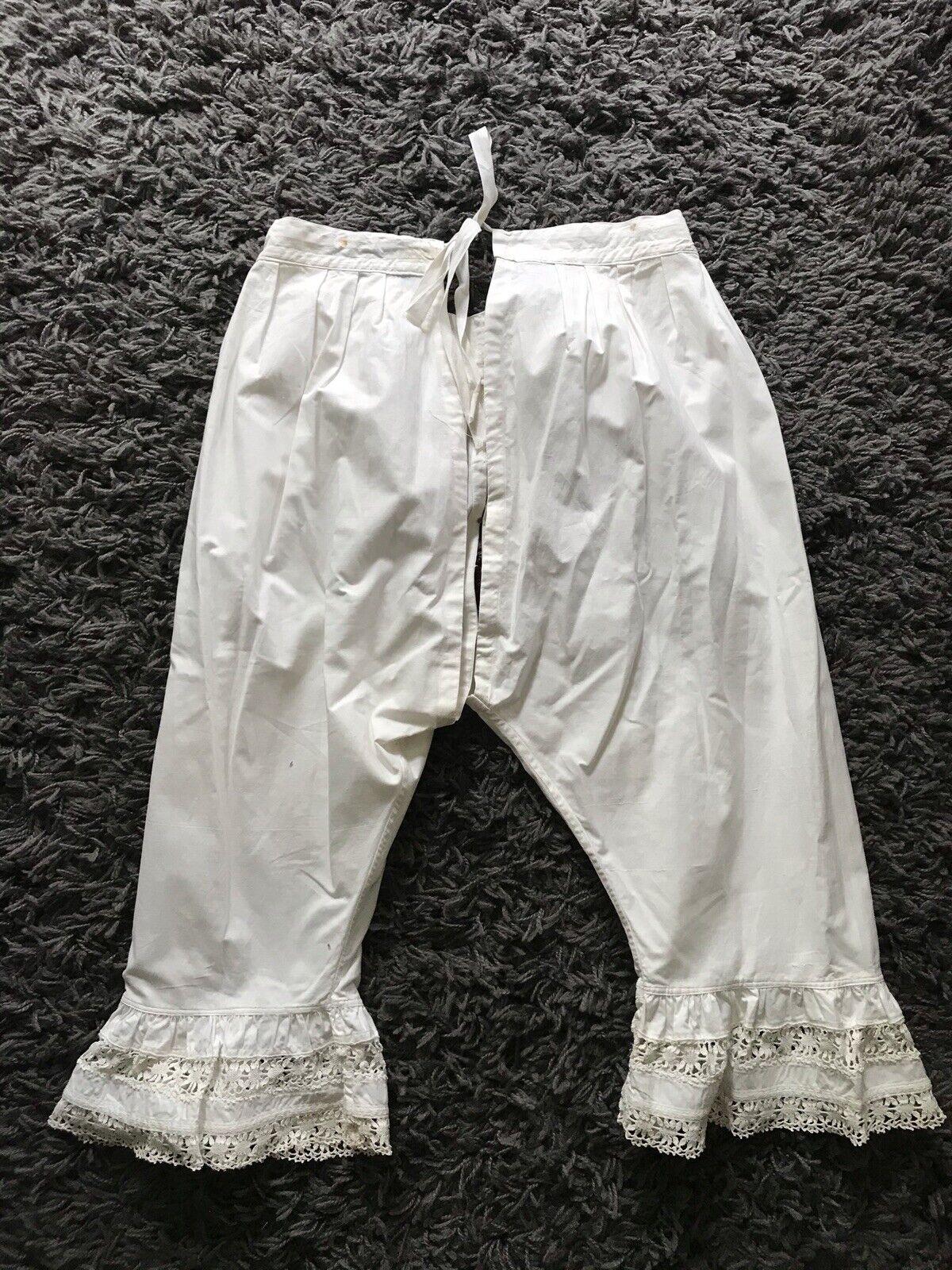 Vintage Pantaloons Antique Cotton Bloomers Edward… - image 5