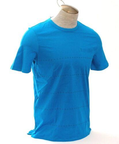 Nike Lab Court Roger Federer Blue Printed Short Sleeve Tennis Shirt Top Men/'s