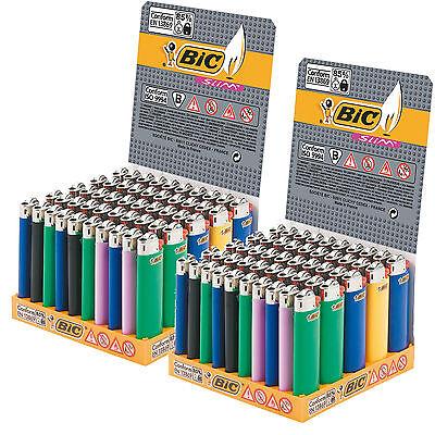 150 Accendini BIC SLIM J23 MEDI Colorati Pietrina 3 Scatole Box Espositori