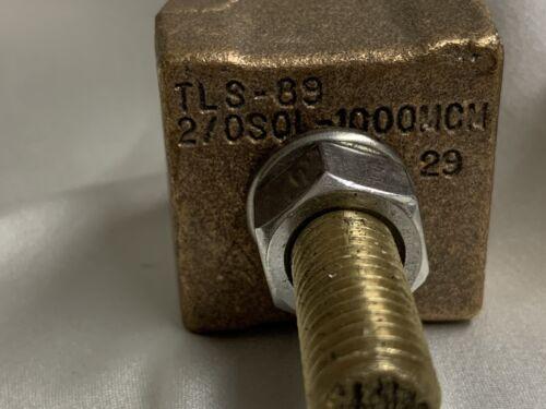 Details about  /Hubbel Bronze Bolted Tap Lug TLS-89 2//0 S0L-1000MCM