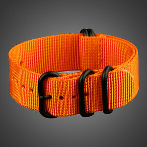 Infantry-WS-ZULU-Nylon-Strap-Watch-Band-Orange-Lug-Width-22MM-Outdoor-Sport