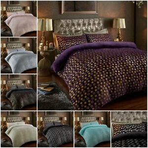 New-Teddy-Bear-Star-Foil-Thermal-Duvet-Cover-Fleece-Bedding-Set-Reversible-Quilt