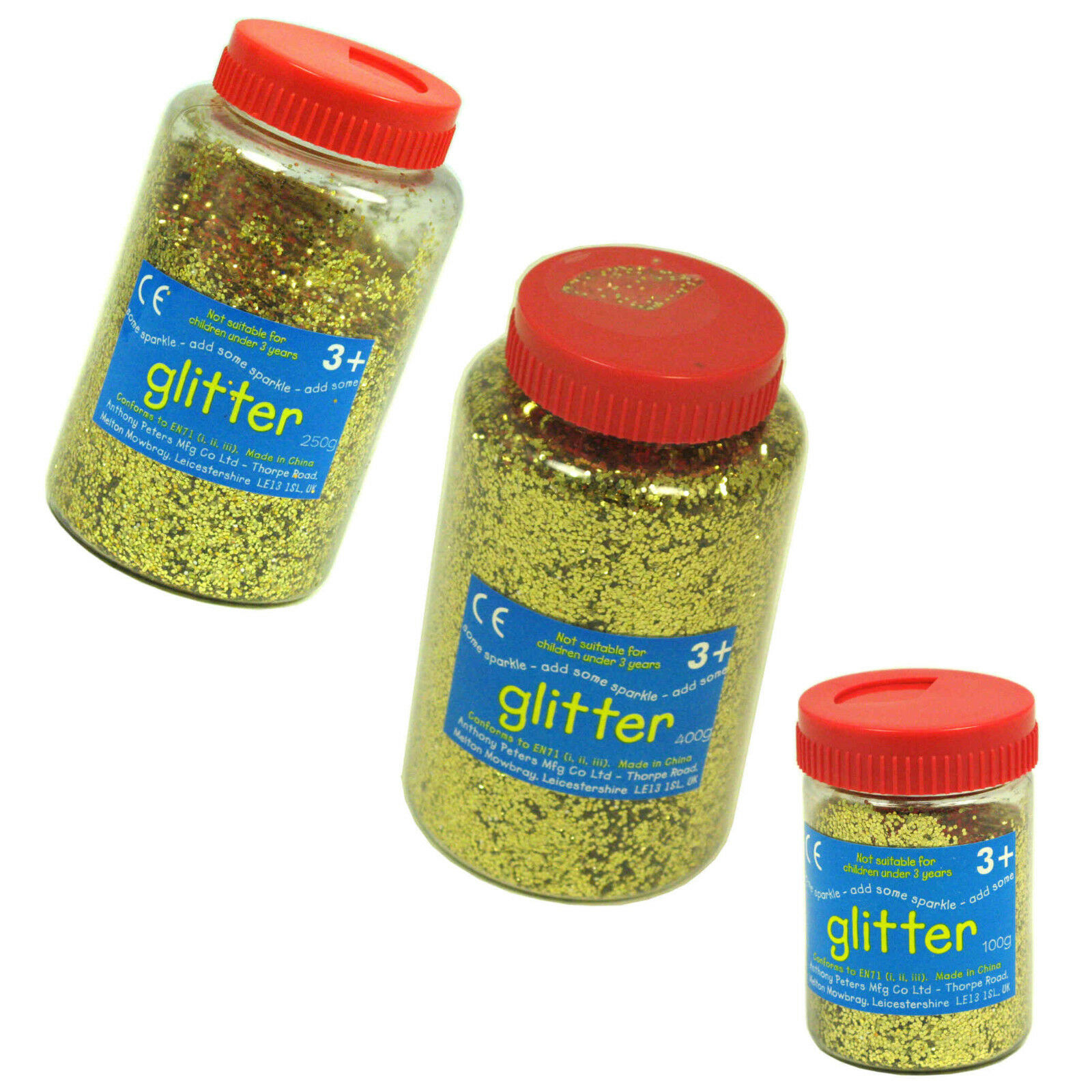 Gold Glitter 100G in shaker pot Perfect for Art /& Craft
