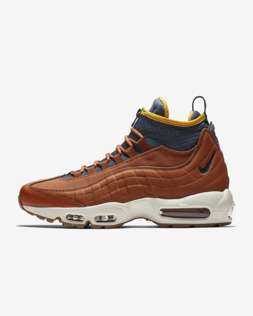 Nike air air air max 95 sneakerboot 806809-204 dunkle rotbraun oder rostbraun donner blaues licht knochen yello 8449ac