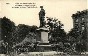 METZ-Frankreich-Carte-Postale-1900-10-Monument-Prince-Frederic-Charles-Denkmal