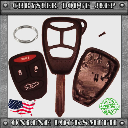 4 Button Chrysler Dodge Jeep OHT692427AA New Remote Key Replacement Case Shell