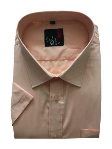 5XL Cotton Blend Mens Short Sleeve Big Size Summer Colours Plain Shirts 3XL