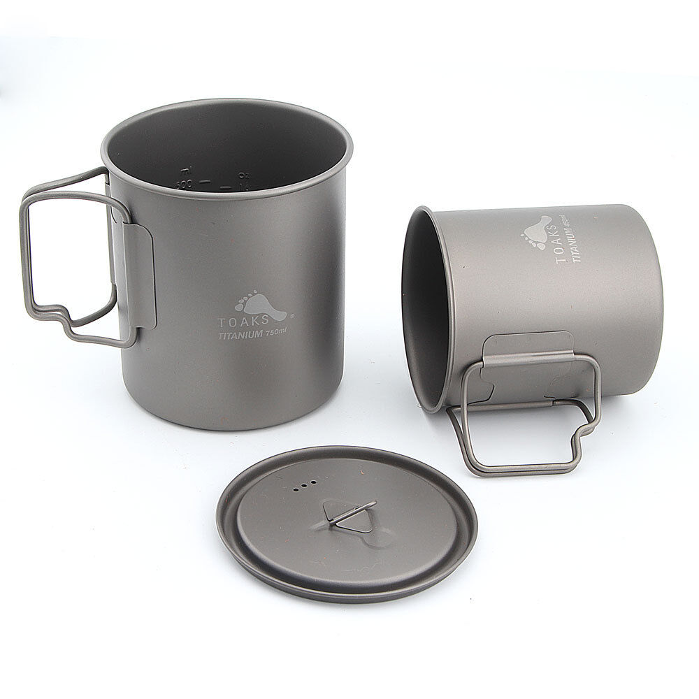 TOAKS CMB-750-450  Titanium Cookware Set 750  Camping Pot and 450  Cup  fast delivery