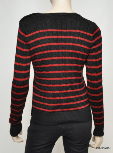 Nwt Nero S Top Lauren rosso Pullover Knit pt Ralph Knit Button maglione Button SSqrzAw