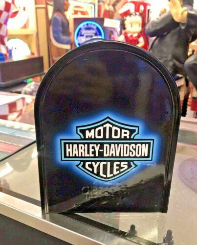 HARLEY DAVIDSON CUSTOM FLAME BLUE MAILBOX