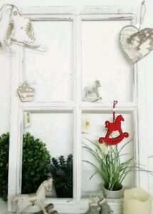 Fenster Deko Fensterrahmen Sprossenfenster Weiss Holz Shabby Vintage