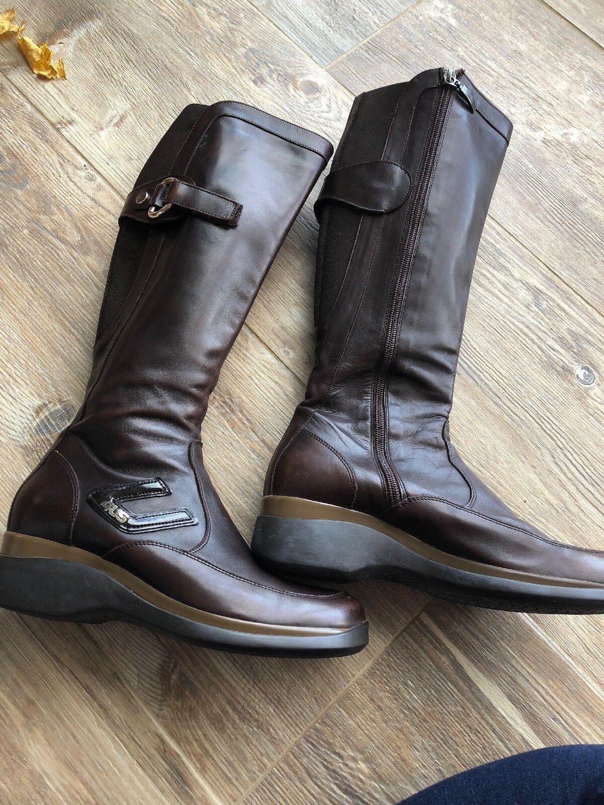 Cesare Cesare Cesare PACIOTTI 4US marrón botas altas 37 Cremallera Lateral Usado En Excelente Condición  precio al por mayor