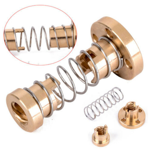 Lead Screw T8 8mm Anti-backlash Spring Loaded Nut For 3D Printer  Trapezoidal Rod