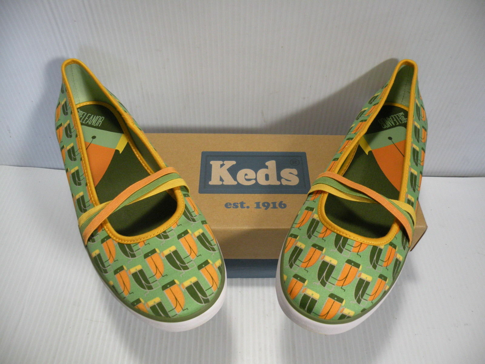 KEDS ELEANOR LOW WOMEN SHOES SHOES SHOES GREEN PARred WF19848 SIZE 10 NEW 74a6af