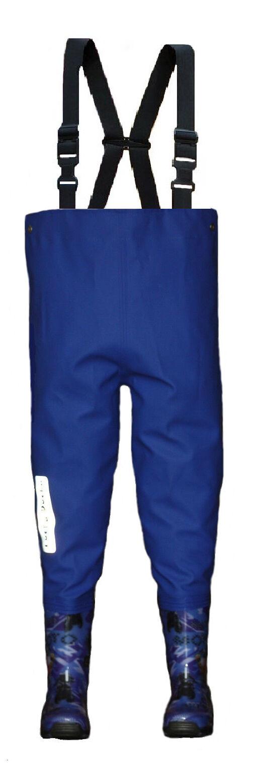 Stivali di gomma con pantaloni kinderwathose Bambini Impermeabili Per Ragazzi mottorad + GRATIS