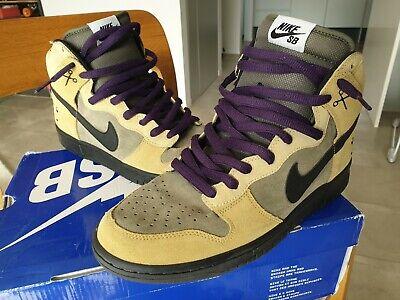 Nike Dunk High SB Chrome Ball Incident Black 10 Air Force 1 Purple Tan Green | eBay