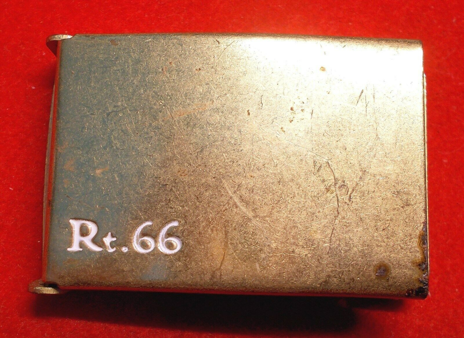 Route 66 Inscribed Belt Buckle for Wab Belt Souvenir for the famous Rt. 66 1960s