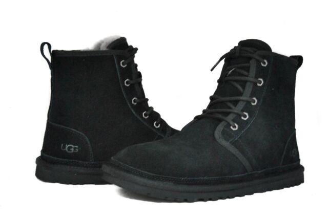 3544d89da2e UGG Australia BOOTS Harkley Black Shearling Sheepskin US Size 11 Men