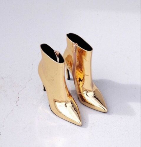 BTO11 Fashion Womens Boots Patent Leather Metallic Pointed High Heeled Boots