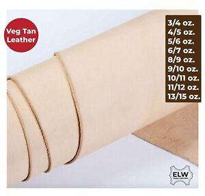 ELW Veg Tan Full Grain Tooling Leather 3/4oz 5/6oz 6/7oz 8/9oz 9/10oz 11/12oz...