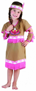 New Girls Toddler Cowgirl and Indian Princess Fancy Dress Party Costumes 4-Years