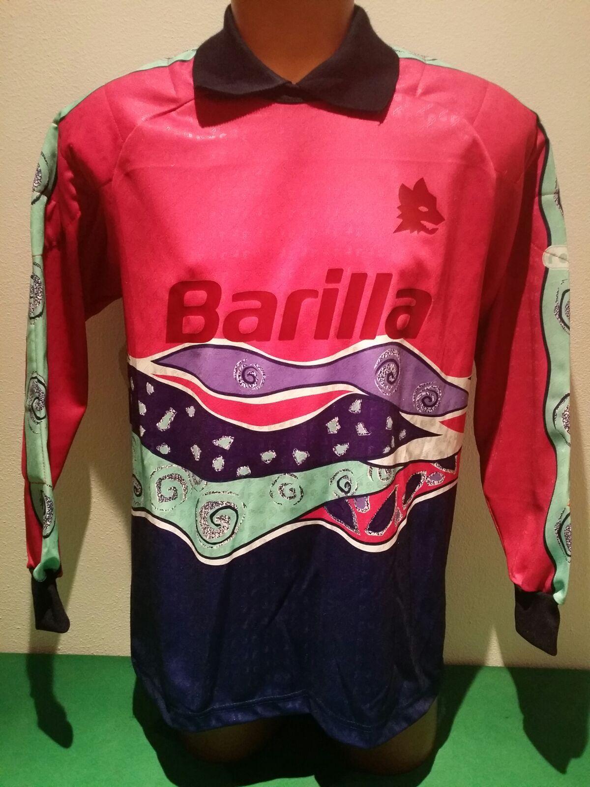 Maglia lorieri roma barilla nomatch worn issued REUSCH goalkeeper adidas 1992 93