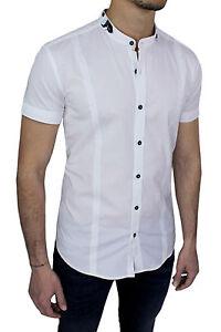 033325198797 Detalles de Camisa de Hombre Sartoriale Casual en Blanco Manga Corta Slim  Fit Algodón