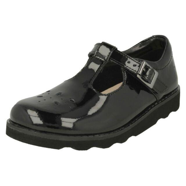 7e9b30e665de Clarks Girls School Shoes Mariel Wish Youth Black Patent fourniture School  Shoes