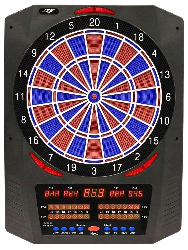 CARROMCO Elektonik DARTBOARD TOPAZ-901, mit Adapter, 2-Loch Abstand 8 Spieler 9