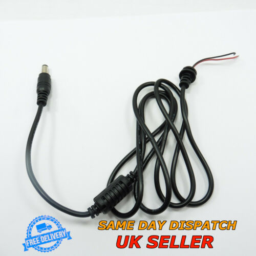 Male DC 2.1x5.5mm 12V Power Plug Connector Wire 1.2m CCTV LED Cable Camera Jack