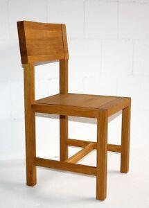 st hle eiche massiv ge lt k chenstuhl esszimmerstuhl holzstuhl holz design ebay. Black Bedroom Furniture Sets. Home Design Ideas