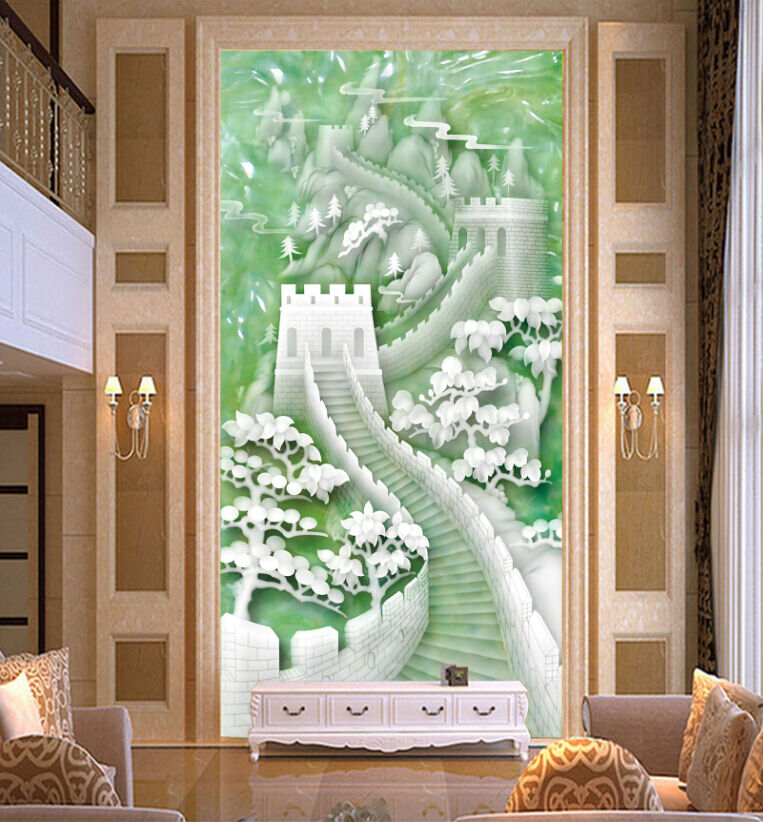 3D Jade The Great Wall Paper Wall Print Decal Wall Wall Murals AJ WALLPAPER GB