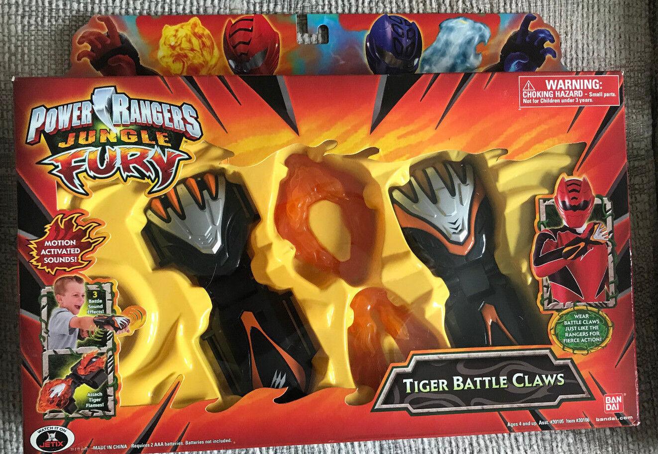 descuento Power Rangers Jungle Jungle Jungle Fury electrónica tigre garras de Batalla Nuevo en Paquete  cómodamente