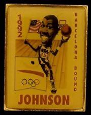 Basketball Olympic Pin Badge ~ 1992 ~ Barcelona ~ Magic Johnson ~ Dream Team