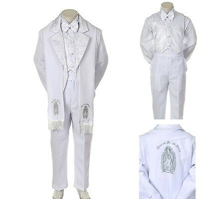 Search For Flights New Baby Toddler Kid Child Boy Church Christening Baptism Tuxedo Suit S-7 White Elegant Shape
