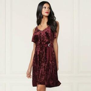 Lc Lauren Conrad Velvet Flouncy Layered Bodice Dress Xs Cinderella Blue