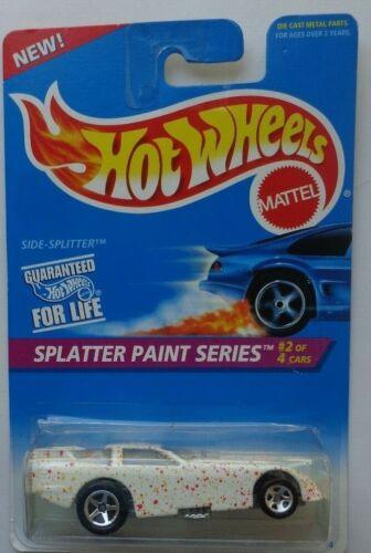 1996 Hot Wheels ~SPLATTER PAINT~ Side-Splitter 2//4 5 Spoke Wheels