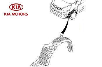 Genuine Kia Picanto 2011-2015 Front Wheel Arch Liner Left Hand Passenger Side