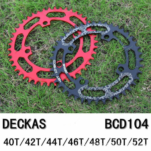 DECKAS bcd104 MTB Bike Round Crankset Chain Ring Chainwheel 40~52T for SRAM GXP