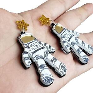 Women-Boho-Dangle-Drop-Stud-Earring-Acrylic-Resin-Ear-Spaceman-Earrings-Jewelry