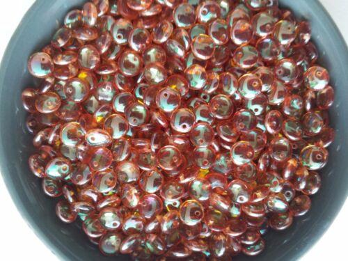 à partir de 60st//60pcs. Lentilles de perles de verre//Czech Verre Beads-lentils 6 mm Abricot la