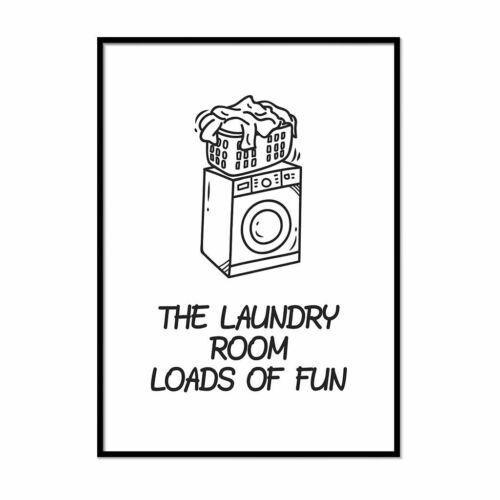 Framed Washing Room Print Utility Room Wall Art Laundry Room Décor Wash Sign Art