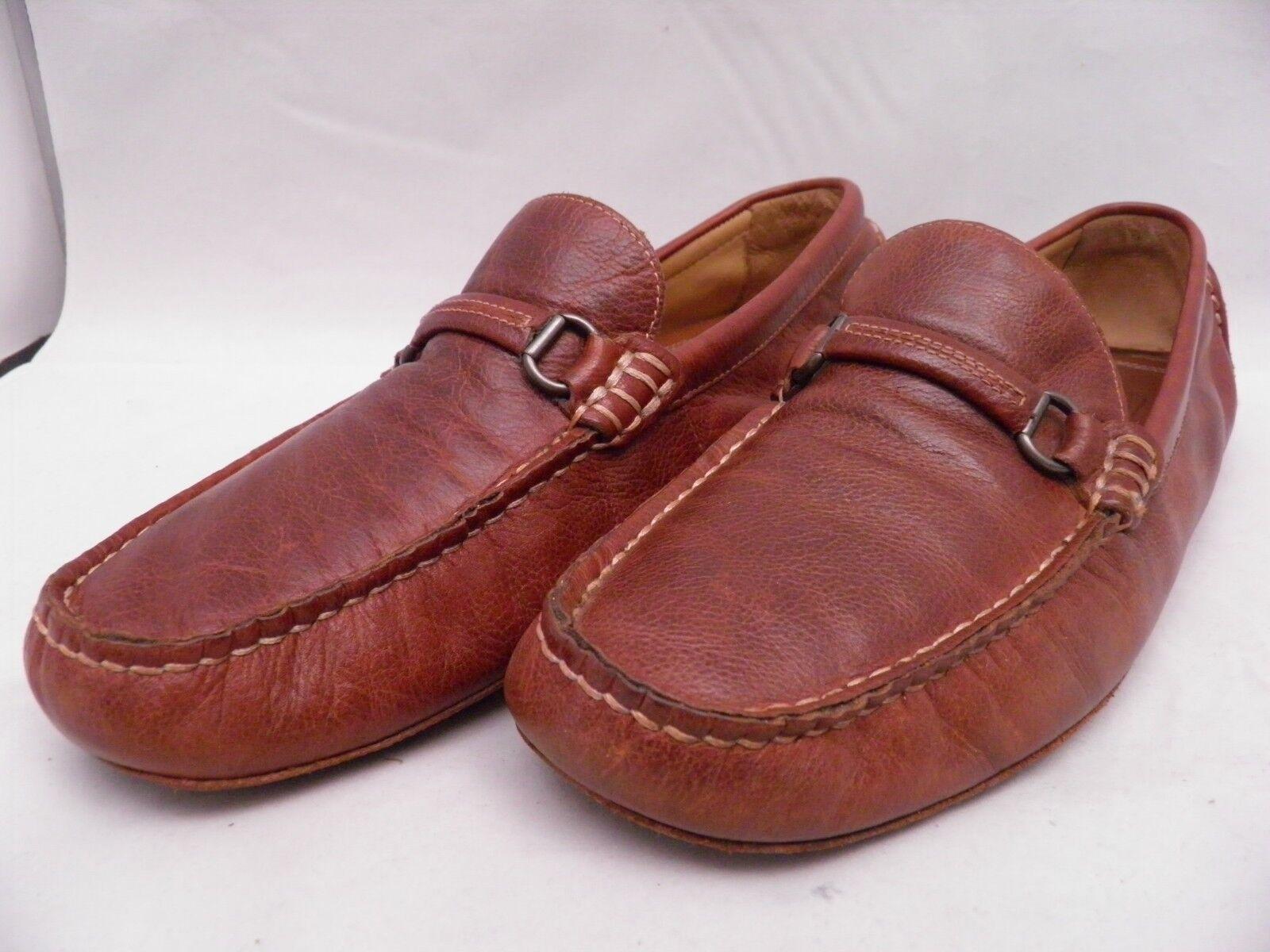Johnston & Murphy mens brown slip-on driving shoe size 11M