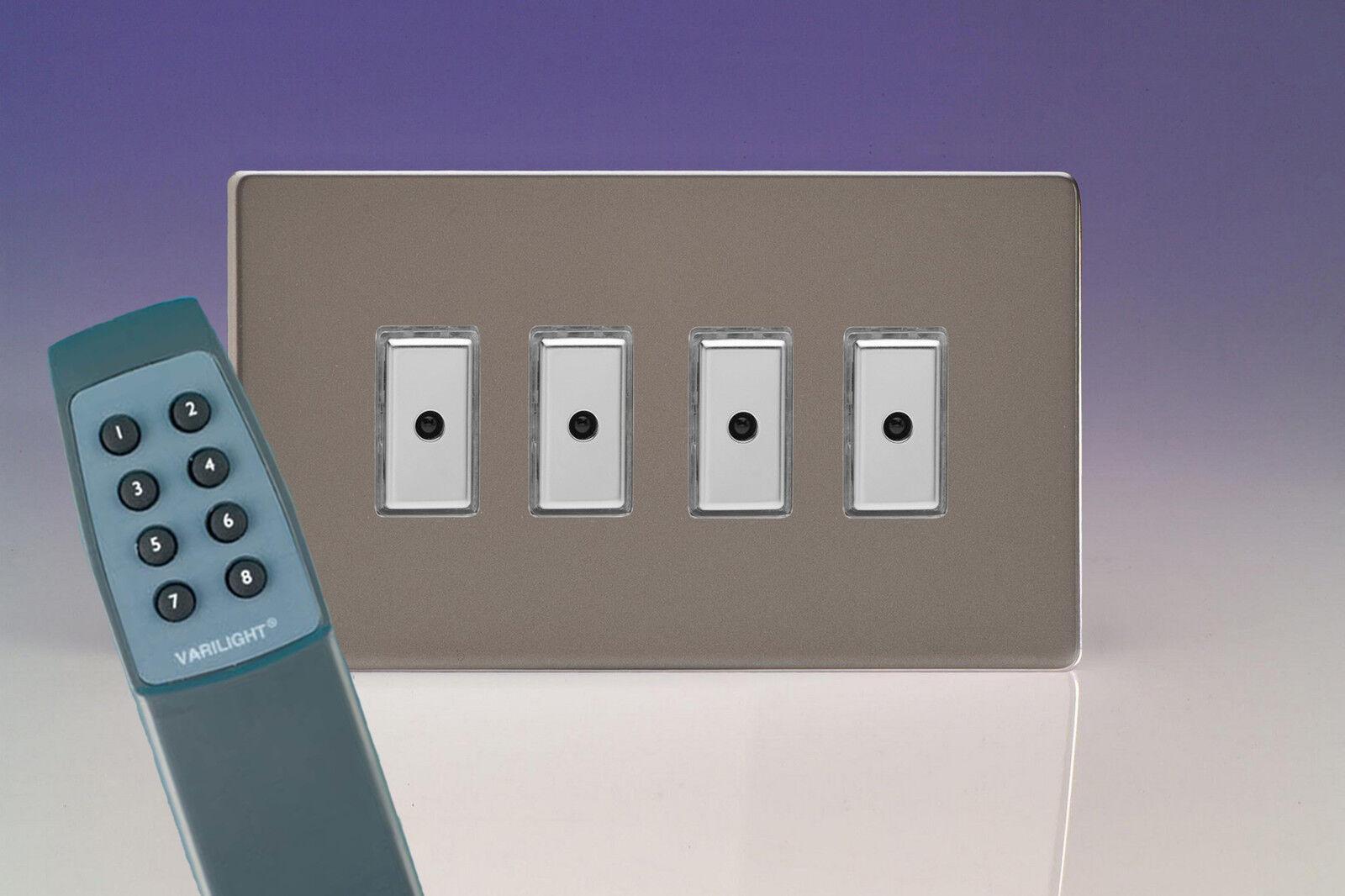Varilight 4 Gang 1-Way TELECOMANDO TATTILE Touch Control MASTER LED LED LED dimmer luce Svizzera 76df3a
