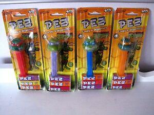 Lot of 4 New NOS 2005 Teenage Mutant Ninja Turtle TMNT Pez Dispensers